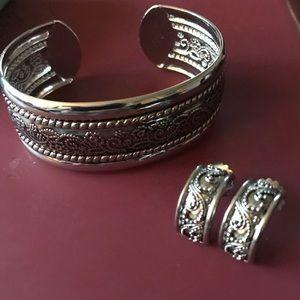 Lia Sophia Jewelry - Lia Sophia Navajo bangle and earrings